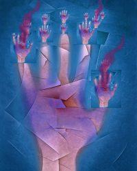 Escapes - mano ferita  -  ©Franco Donaggio, tutti i diritti riservati