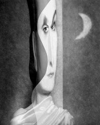 Metaritratti - Sandra di notte  /  © Franco Donaggio, tutti i diritti riservati
