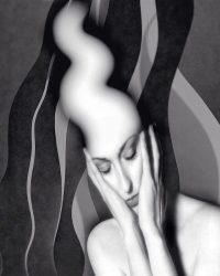 Metaritratti - donna che pensa  /  © Franco Donaggio, tutti i diritti riservati