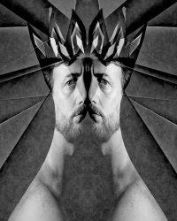 Metaritratti - il re  /  © Franco Donaggio, tutti i diritti riservati