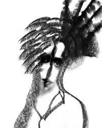 Metaritratti - ragazza con cappello  /  © Franco Donaggio, tutti i diritti riservati