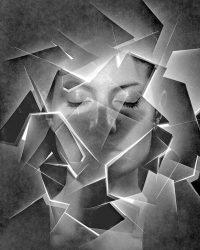 Metaritratti - viso con luce  /  © Franco Donaggio, tutti i diritti riservati